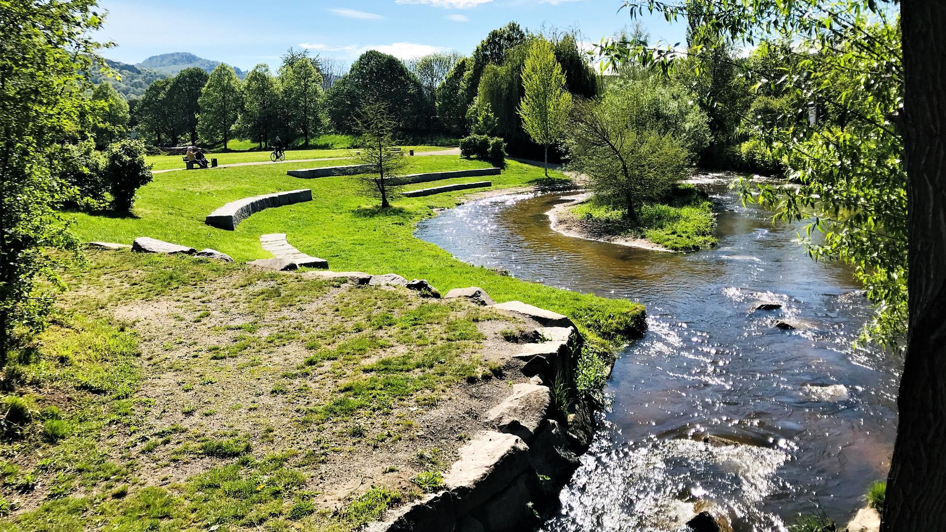 Ein Ort zum Entspannen ist der Wörthböschelpark in Baden-Baden. Die Grünanlage entstand zur Landesgartenschau im Jahr 1981 und soll jetzt aufgewertet werden.