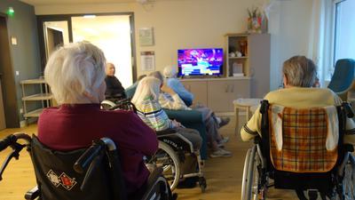 Kleine Gruppe: Die Bewohner des Seniorenheims Schafberg können sich derzeit nur innerhalb ihrer Bewohnergruppen treffen.