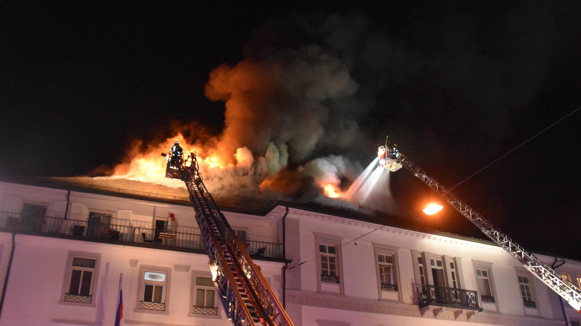 Feuer Badischer Hof Baden-Baden