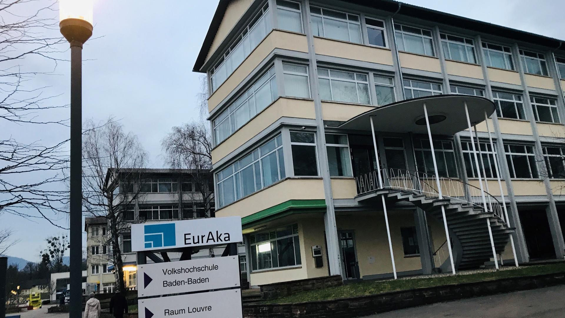 Den Charme der 50er-Jahre verbreiten Gebäude der EurAka, einem gemeinnützigen Unternehmen der Stadt Baden-Baden.