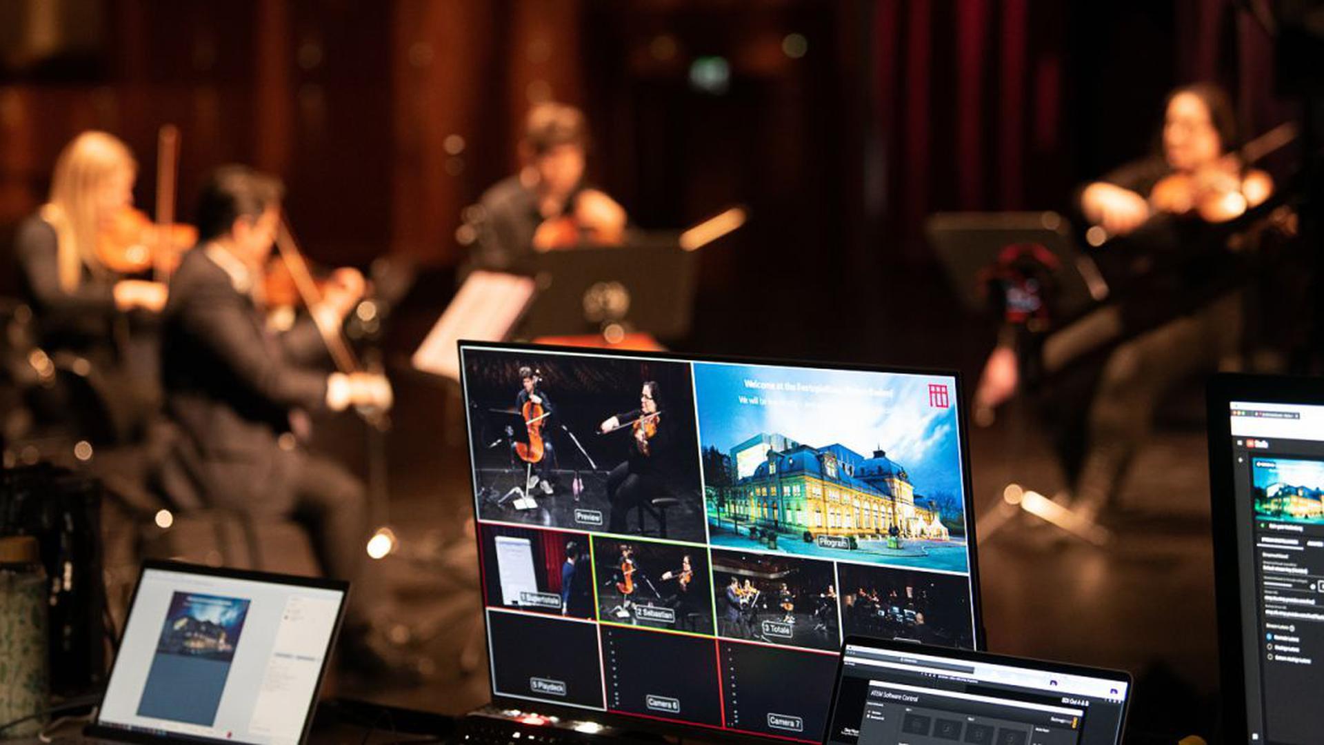 Klassische Musik im Livestream: Aufnahme aus einem Workshop am Festspielhaus Baden-Baden, PR-Bild zum Streaming-Festival des Festspielhauses im Februar 2021.