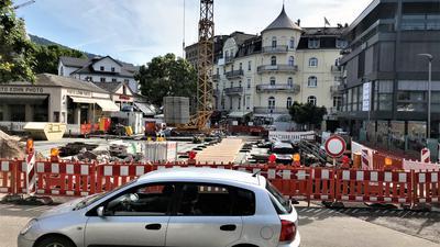 Bauarbeiten an der neuen Reinhard-Fieser-Brücke in Baden-Baden