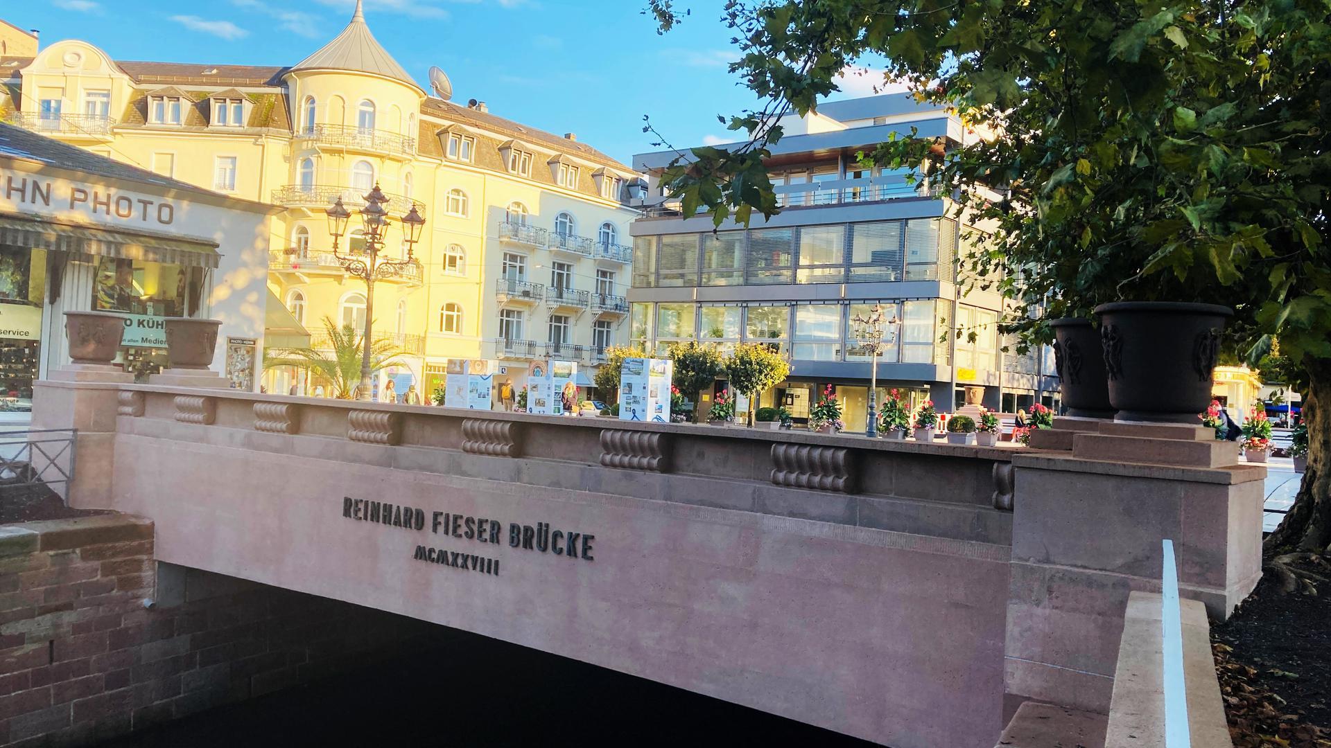 Die Fieser-Brücke in Baden-Baden