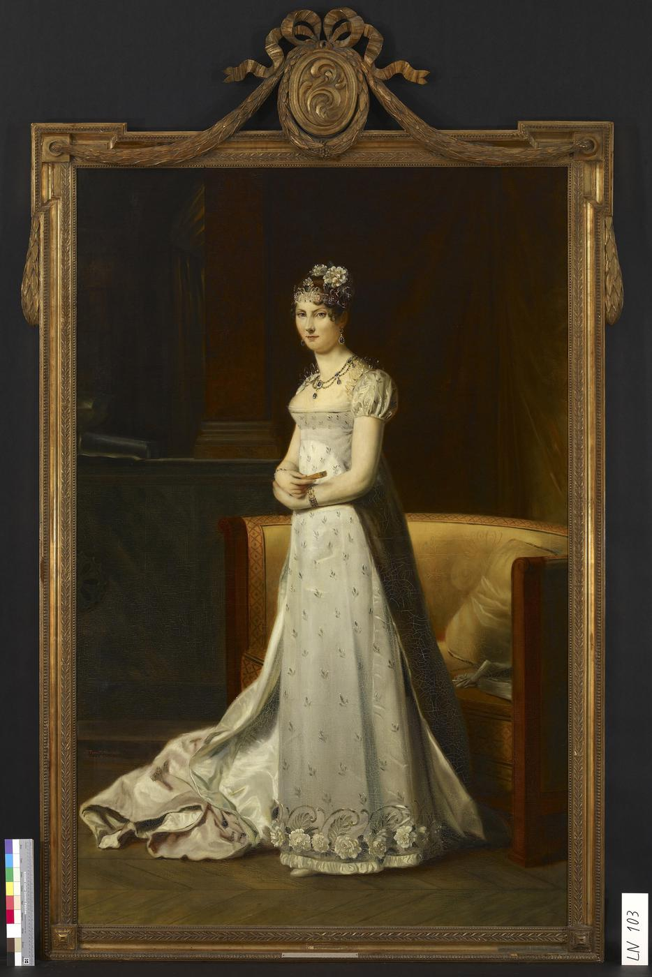 Im Brautkleid: Das berühmteste Bildnis der Großherzogin Stéphanie zeigt sie in dem Gewand, in dem sie heiratete.