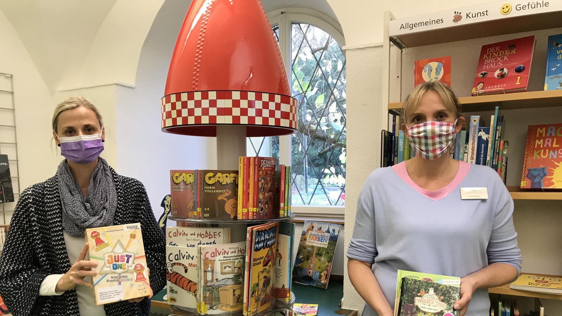 Ilka Hamer (rechts) und Sylivia Meermann zeigen ihre Tipps für Familien und Kinder.