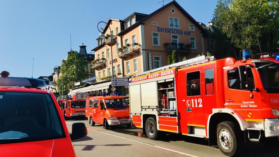 Feuerwehreinsatz im Hotel Bayrischer Hof