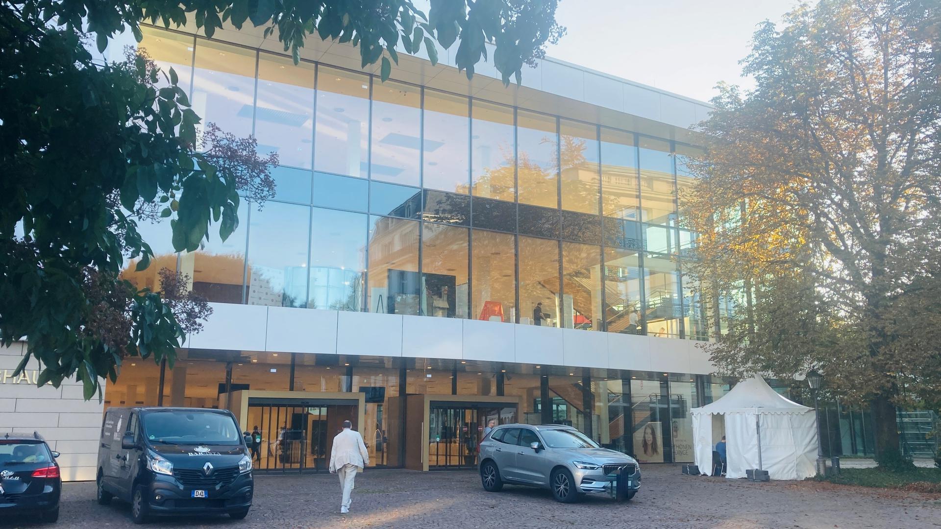 Blick auf das Kongresshaus in Baden-Baden.
