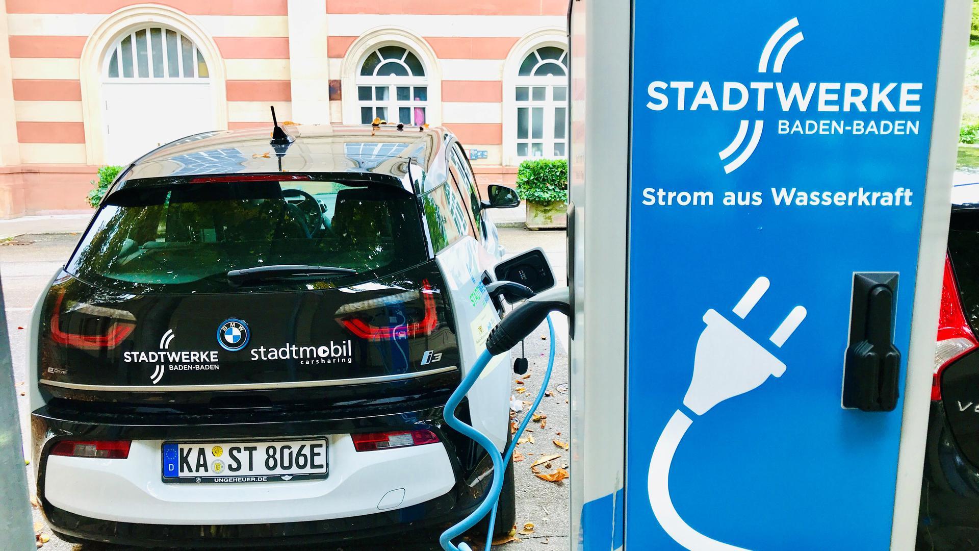 Ladestation für Elektroauto in Baden-Baden.