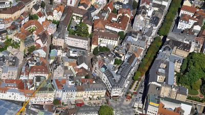Im Herzen der Baden-Badener Innenstadt liegt der neu gestaltete Leopoldsplatz.