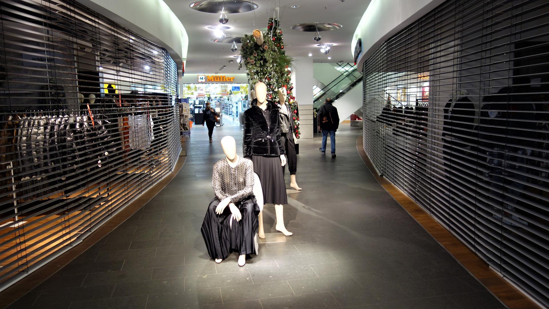 In der Wagener Galerie Baden-Baden sind bis auf wenige Ausnahmen alle Shops geschlossen.