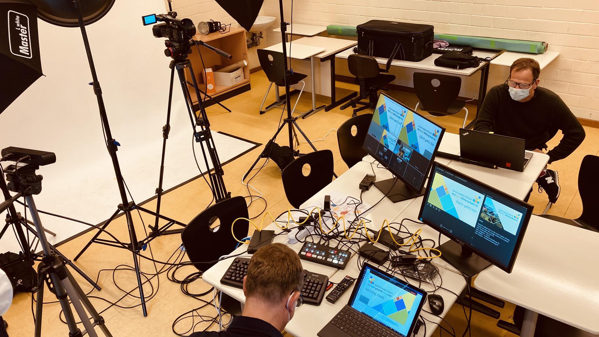 Ein Raum voller Technik in der Louis-Lepoix-Schule Baden-Baden.