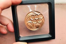 Medaille zum Olympischen Kongress in Baden-Baden von Medailleur Victor Huster