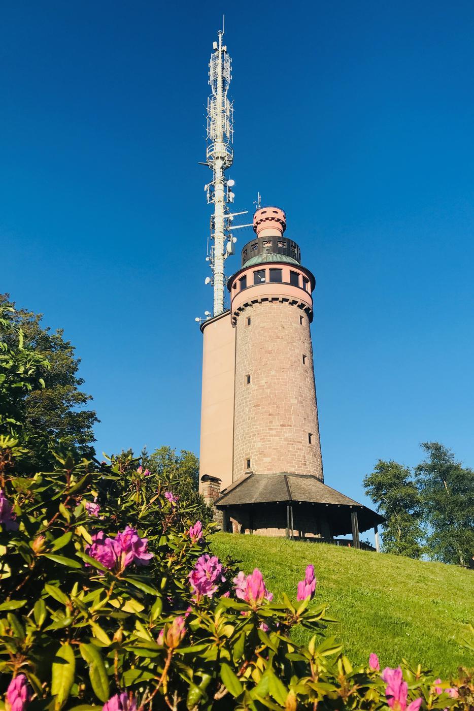 Der Turm auf dem Baden-Badener Hausberg Merkur.