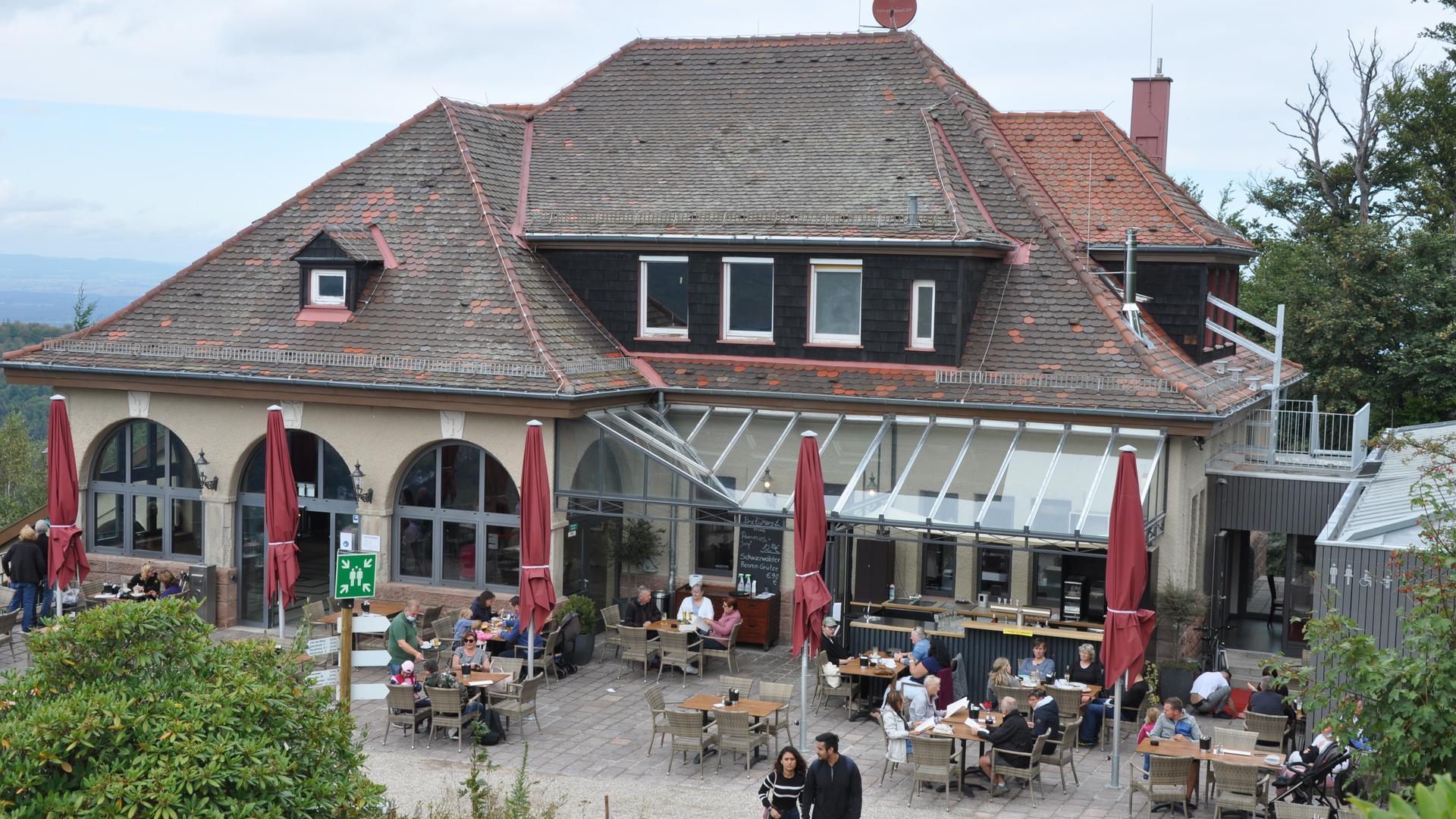 Beliebtes Ausflugslokal: Das Merkurstüble mit Blick auf Baden-Baden