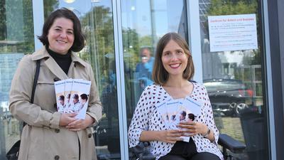 Mehtap Döger, Behördenengel, und Nora Welsch, Behindertenbeauftragte in Baden-Baden