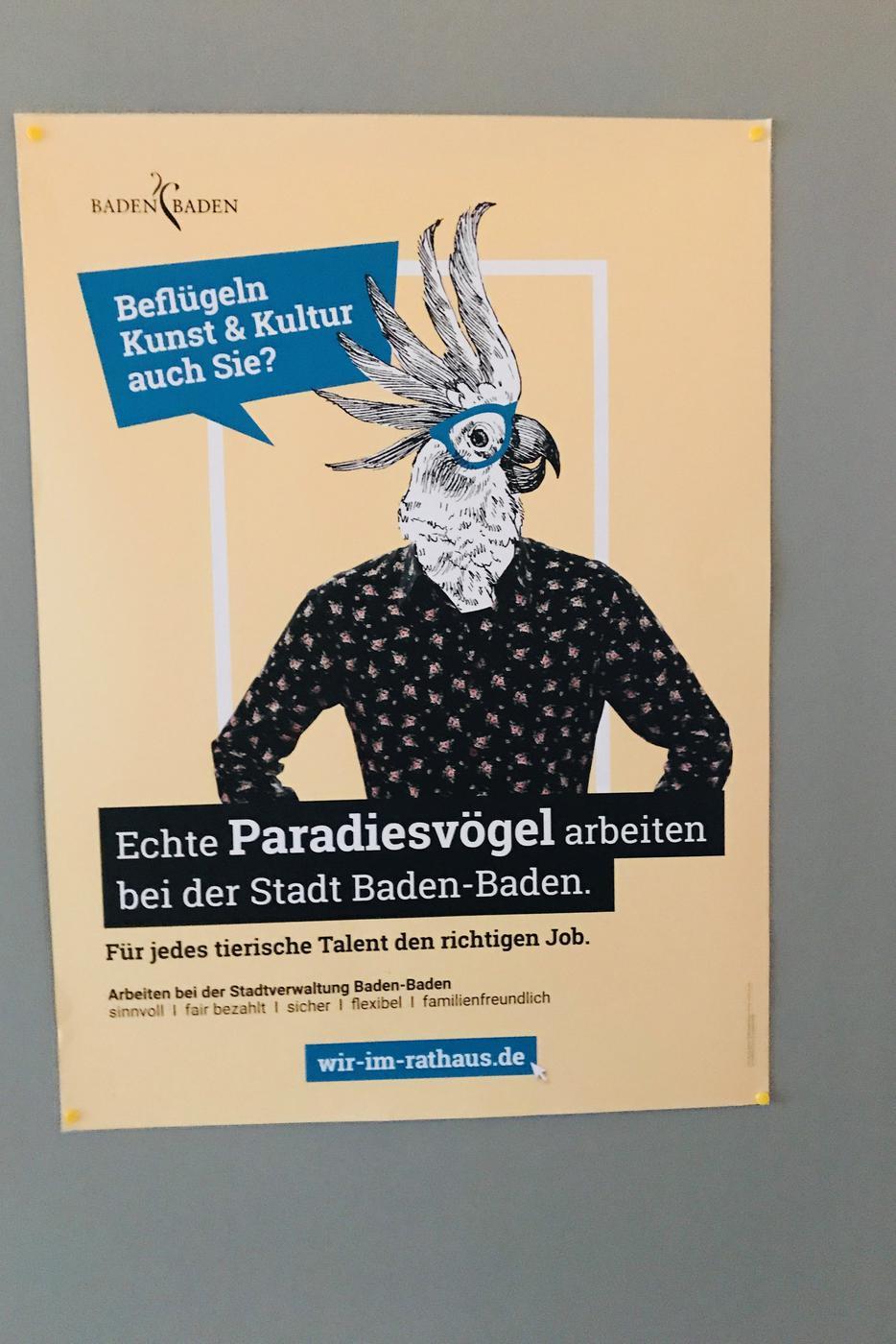 Plakat zur Arbeitgeber-Marke der Stadt Baden-Baden