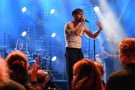 Sänger auf der Bühne