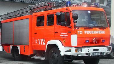 Foto eines Feuerwehrautos des Modells TLF 16
