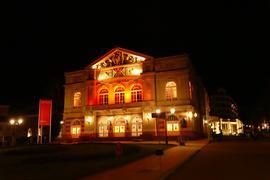 Theater Baden-Baden bei Nacht