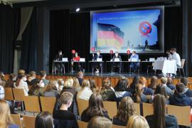 Schüler organisieren Podiumsdiskussion mit Bundestagskandidaten, Klosterschule v. Hl. Grab, Baden-Baden
