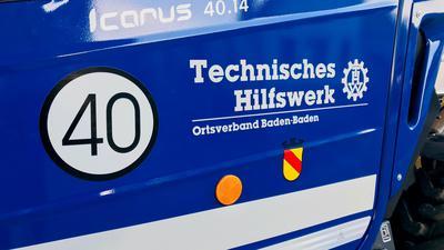 Einsatzfahrzeug des THW Baden-Baden