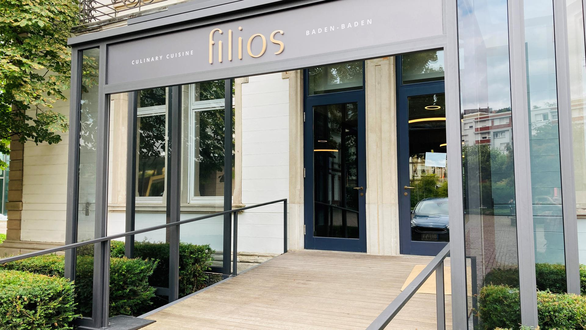 """An diesem Samstag soll das Restaurant """"filios"""" in den neu gestalteten Räumen des früheren """"Medici"""" am Augustaplatz in Baden-Baden öffnen."""