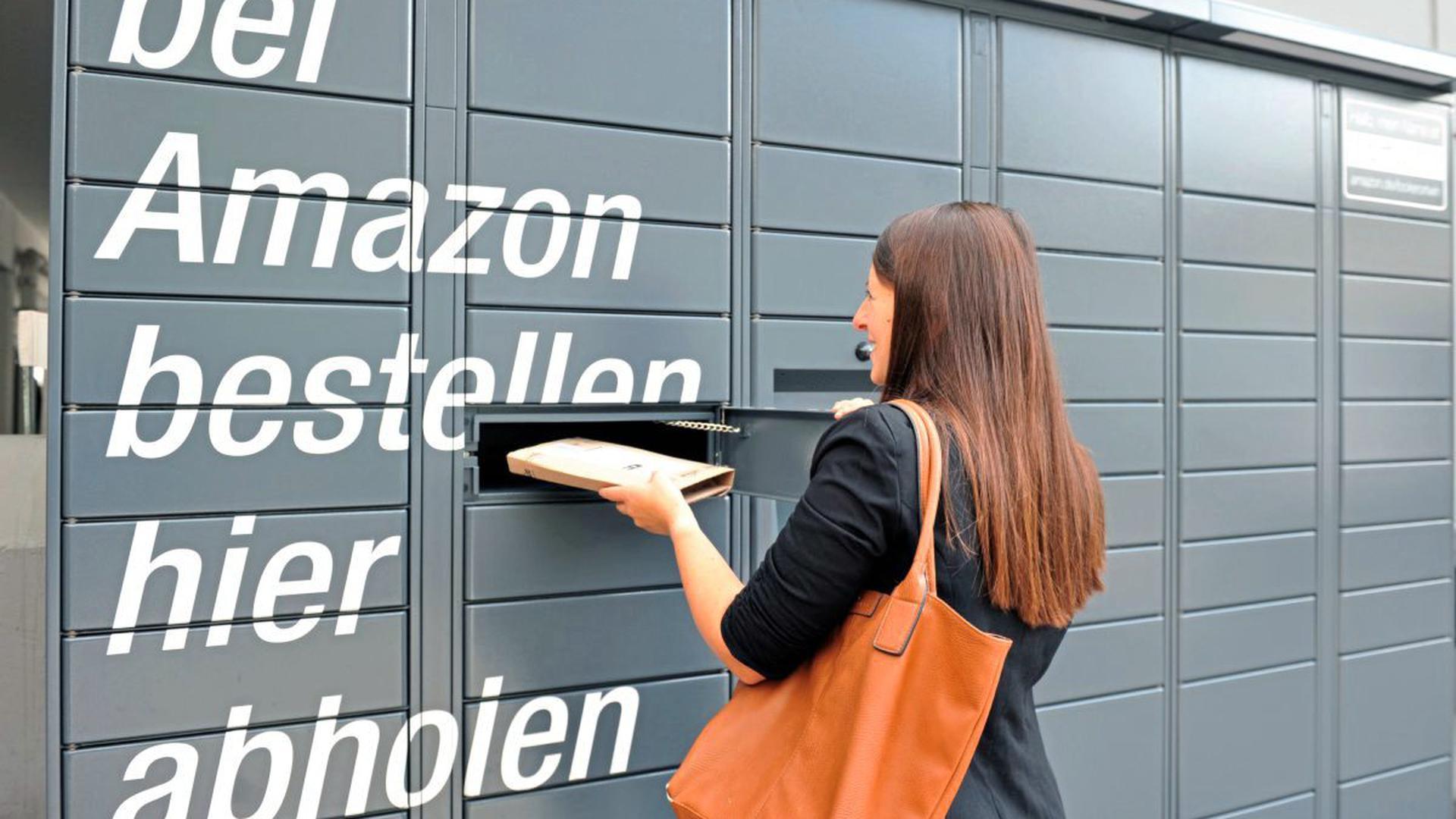 Neuer Service für Besteller: Jetzt stehen auch in Baden fünf amazon-eigene Paketabholfächer.