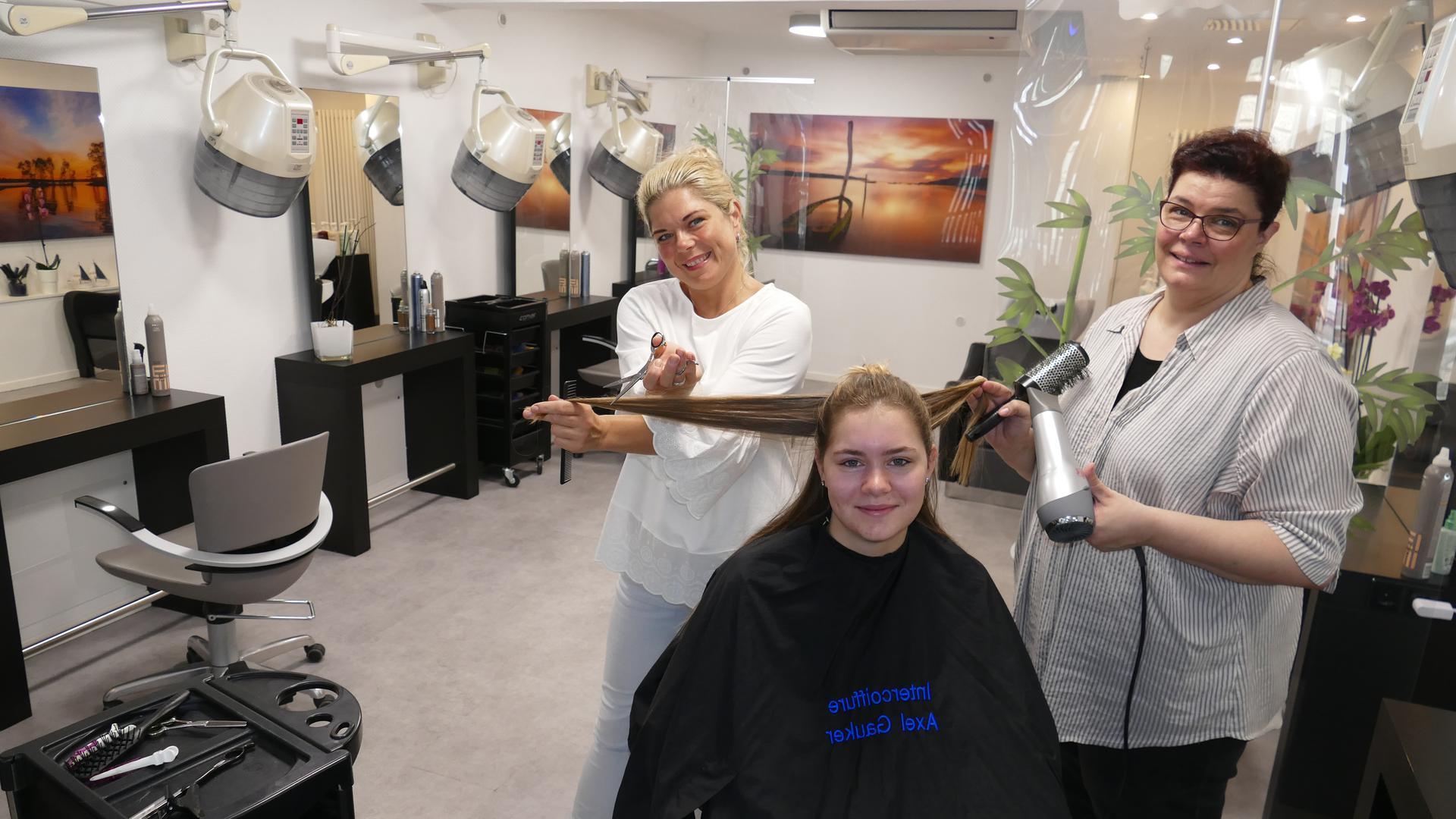 Die Friseurinnen im Salon Gauker fiebern dem Montag entgegen