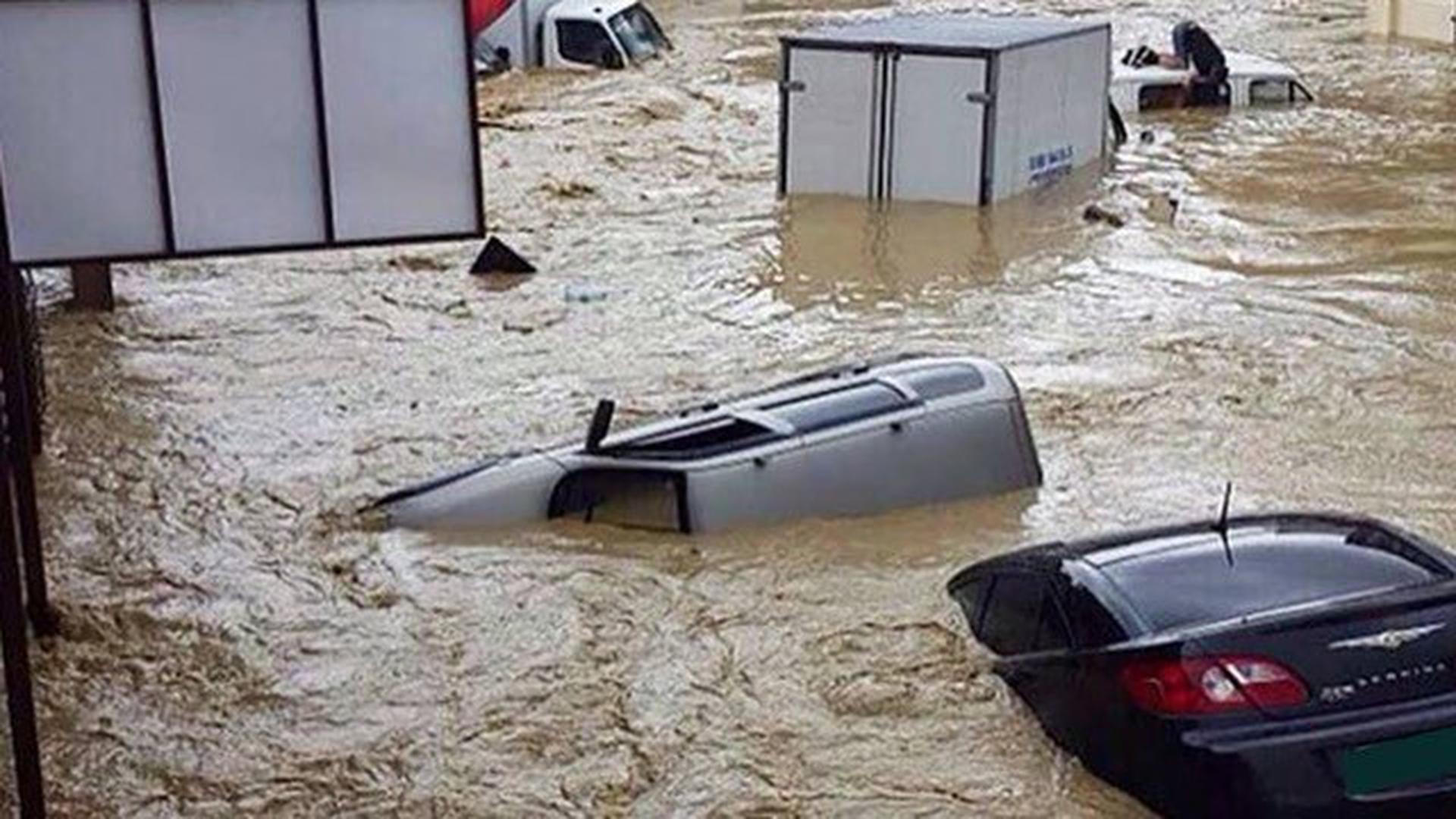 Überschwemmung in Jalta