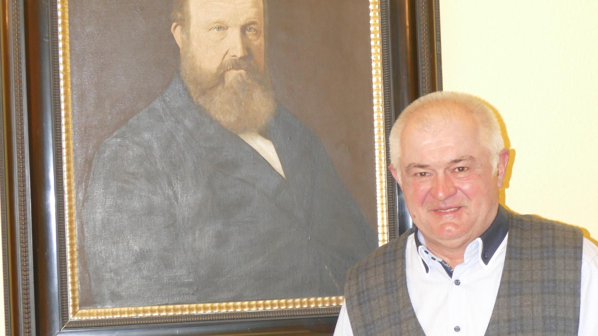 Franz Jünger, Meister vom Stuhl, im Logenhaus