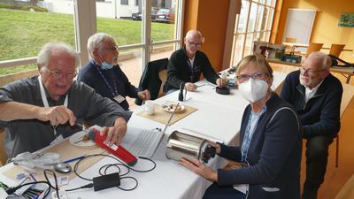 von links Wolfgang Matz, Dieter Doro, Herbert Meyer-Jakob und Andreas Bändel (rechts hinten)
