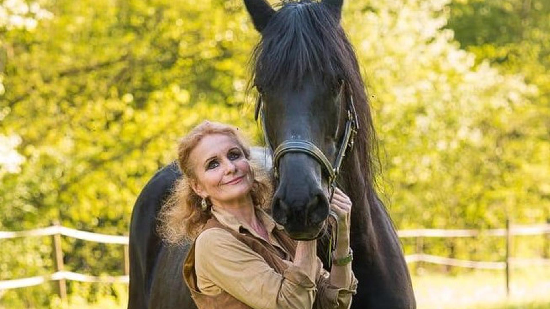 Sanfte Riesen: Beate Schöbe bietet mit ihren Friesen pferdegestützte Therapie an. Nun ist sie dringend auf der Suche nach einem neuen Grundstück.