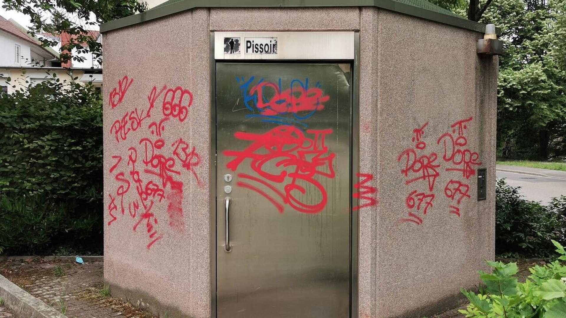 Graffiti mit der Aufschrift Dope.