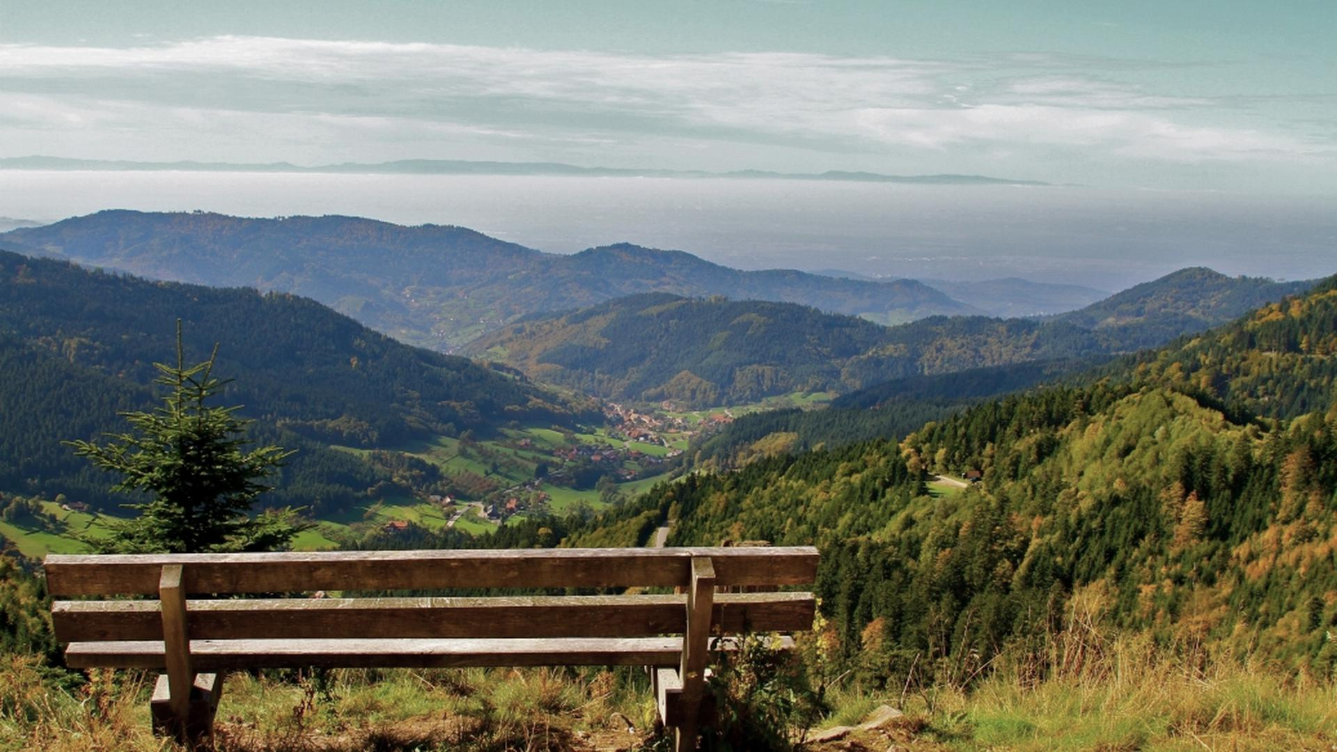 Der Blick vom Lothar-Denkmal auf Gemarkung der Gemeinde Seebach.