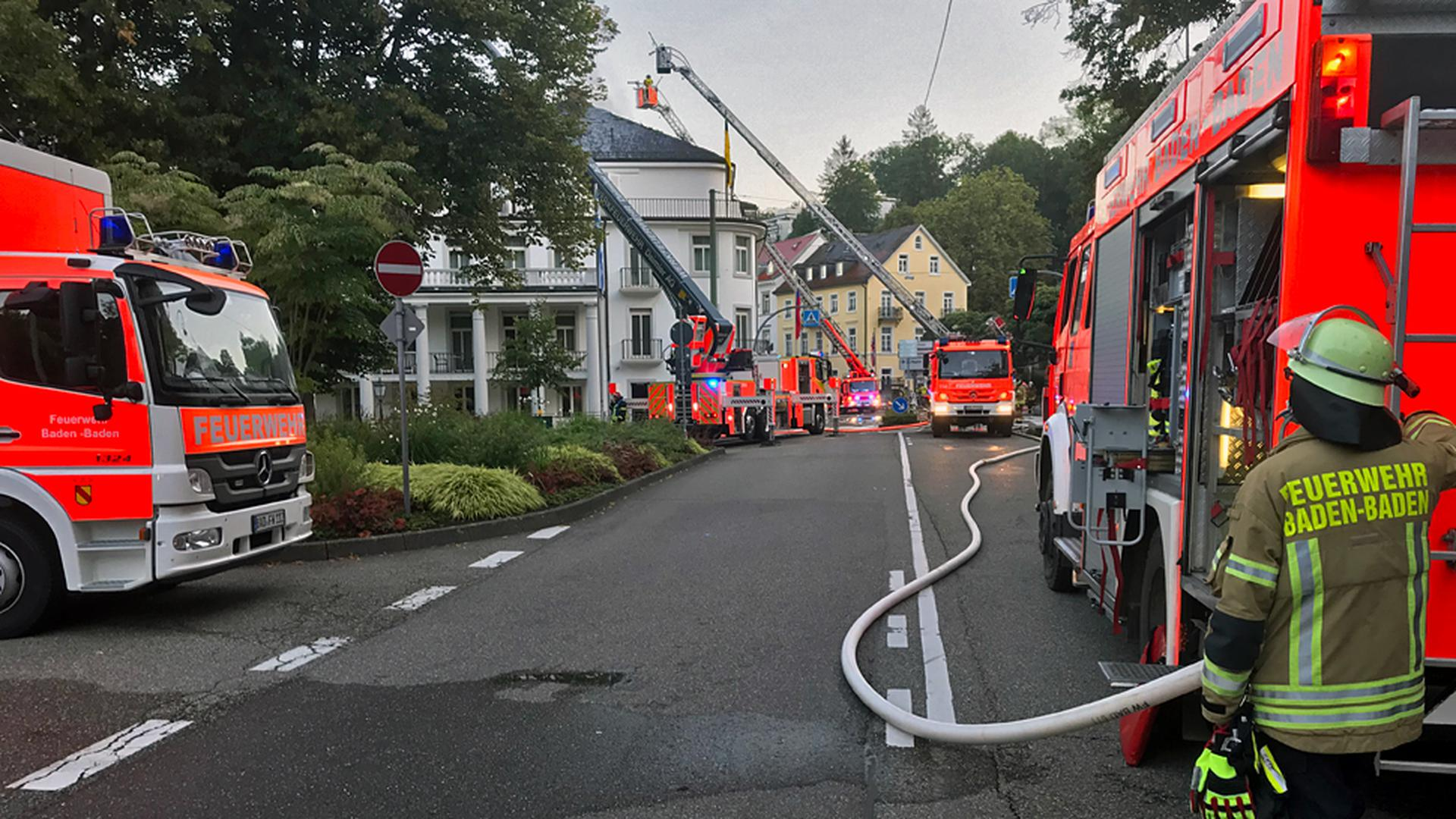 Feuer im Hotel Badischer Hof in Baden-Baden.