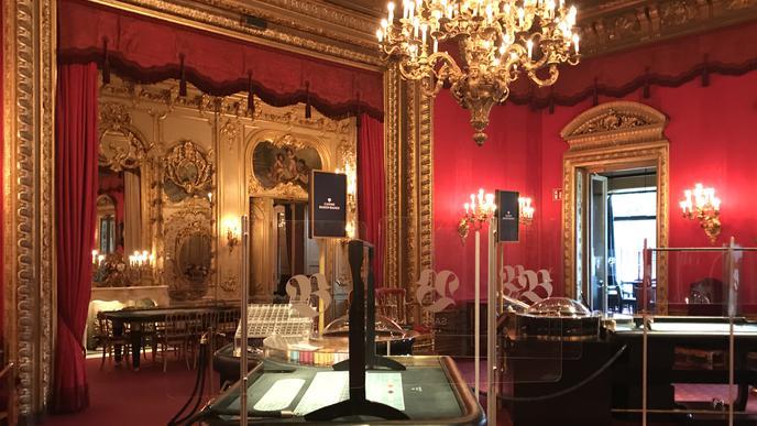 Prunkvoll und historisch: Der Rote Salon im berühmten Casino im Kurkhaus in Baden-Baden.