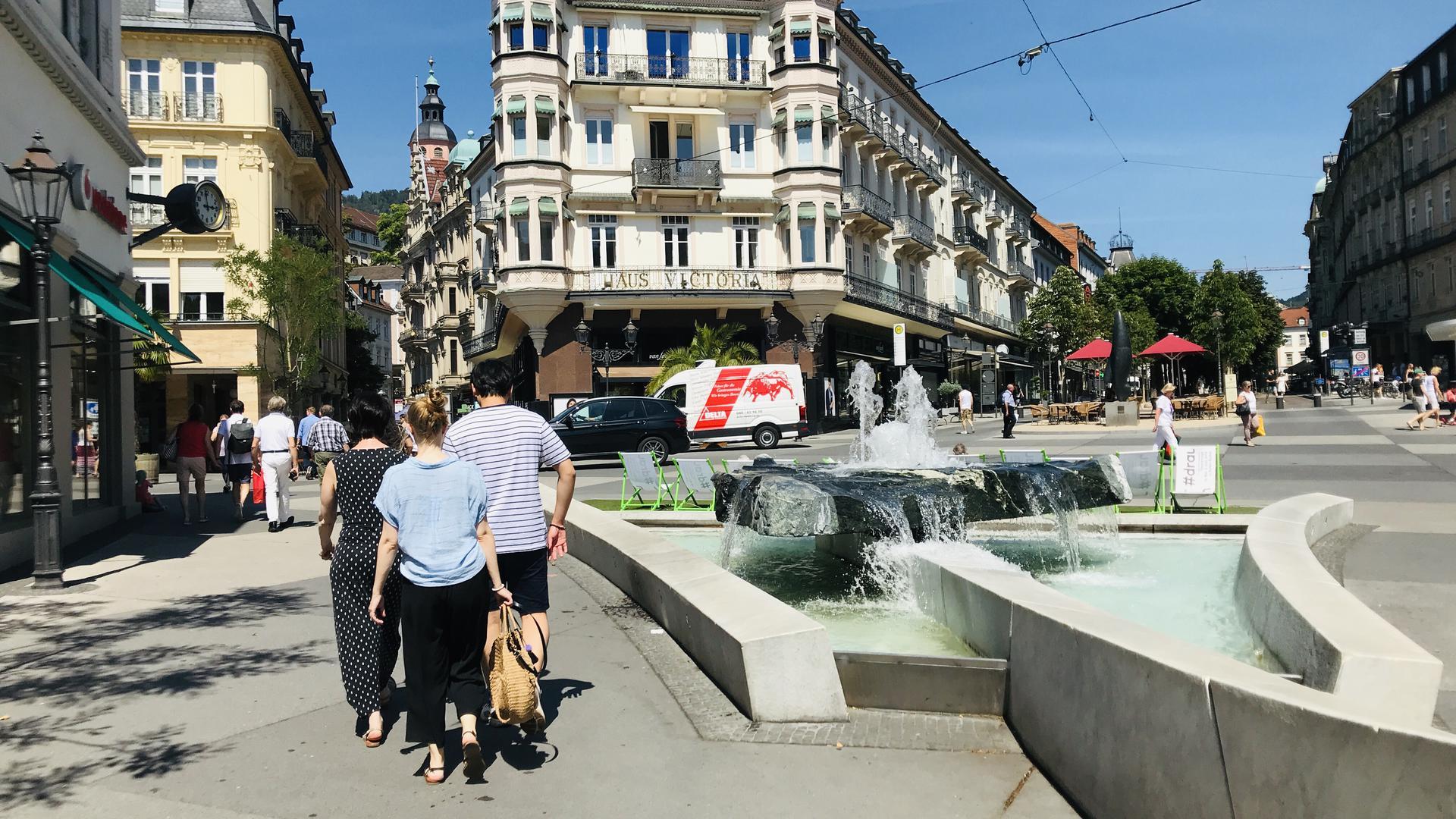 Der sanierte Leopoldsplatz in Baden-Baden. Wegen verbotener Preisabsprachen, unter anderem für den zweiten Bauabschnitt der Leo-Sanierung, hat das Amtsgericht Baden-Baden einen Strafbefehl gegen einen Baden-Badnener Bauunternehmer erlassen.
