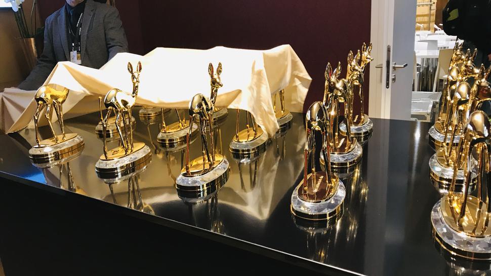 Begehrt: der Medienpreis Bambi. Hier werden die Preise für das BNN-Foto enthüllt.