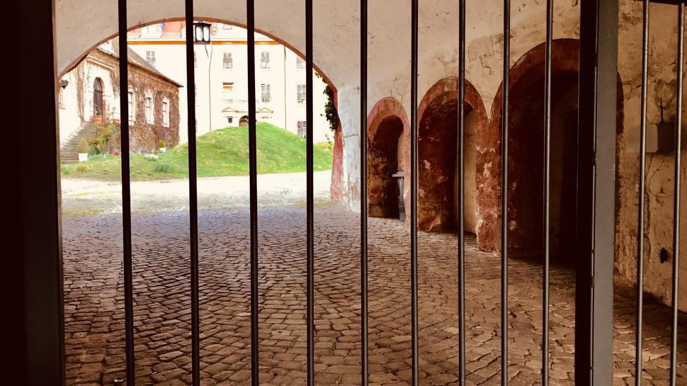 Zutritt verboten: die ehemalige markgräfliche Residenz in Baden-Baden.