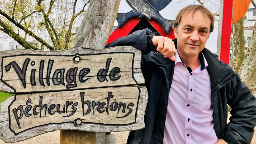 Mister Spielplatz: Bernd Angstenberger plant und entwirft die Kinderspielplätze – hier steht er auf dem Spielplatz Bretagne.