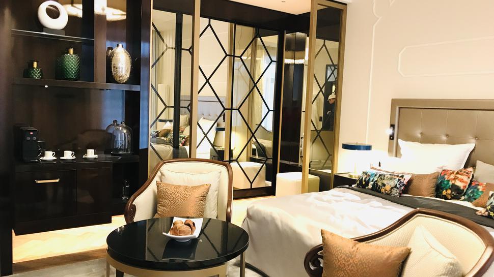 So könnten die Zimmer im neuen Luxushotel aussehen. Ein Musterzimmer ist schon eingerichtet. Über der neue Investor diesen Stil ebenfalls bevorzugt, wird sich zeigen.