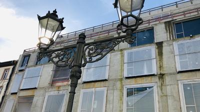 Soll keine Bauruine werden: Die Baustelle des Europäischen Hofs in Baden-Baden. Dort ist dem Investor das Geld ausgegangen.