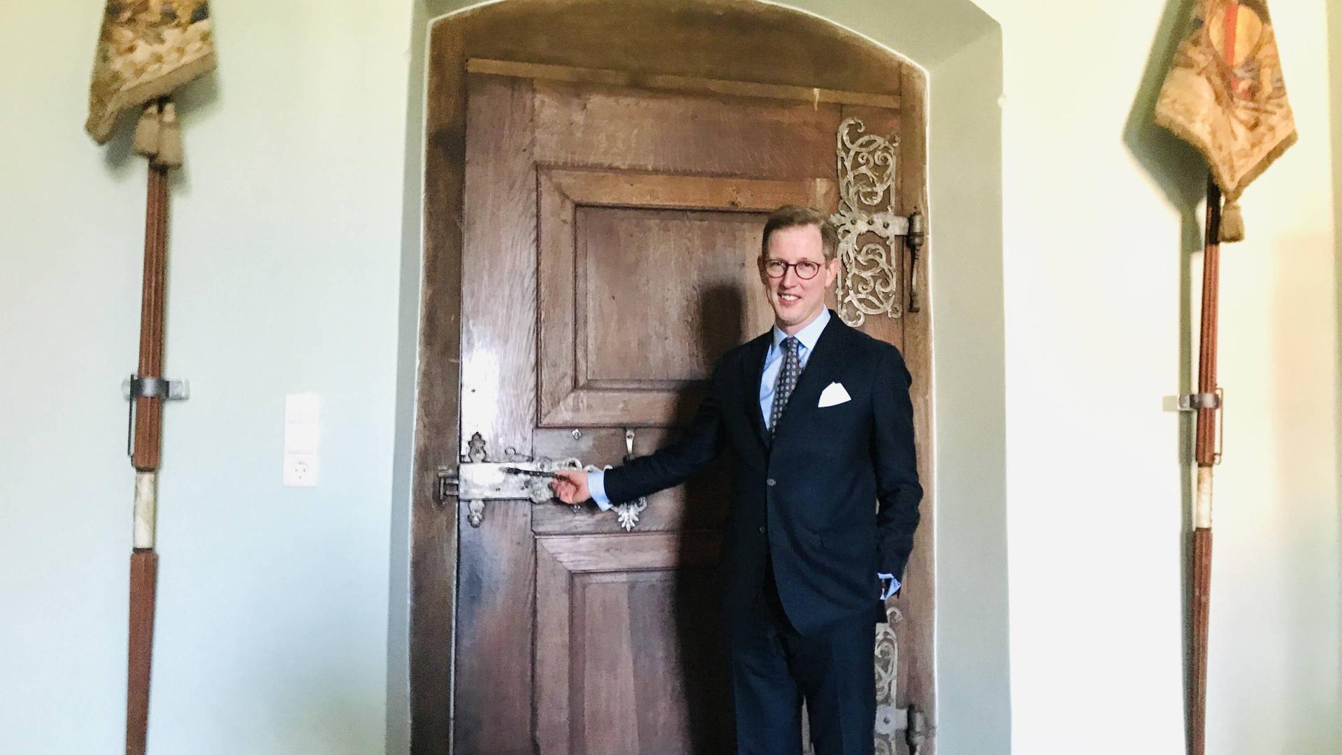 Bernhard Prinz von Baden empfängt den BNN-Besuch in der Markgräflich Badischen Verwaltung in Schloss Salem.