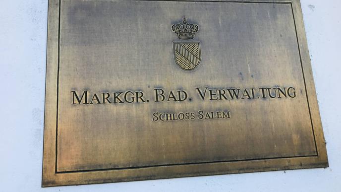 In Schloss Salem hat auch die Markgräflich Badische Verwaltung ihren Sitz.