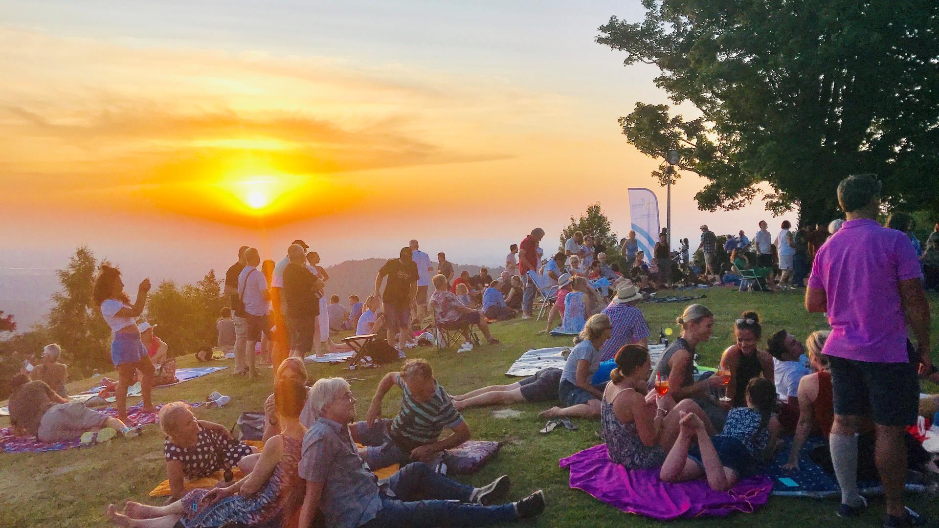 Open-air auf dem Merkur, Baden-Baden 2019, mit Holiday Blues Band
