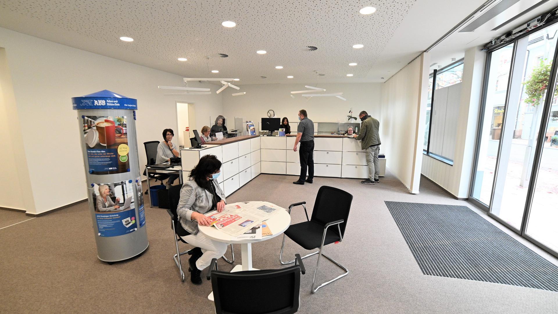 Lichtdurchflutet: Die neue Geschäftsstelle des Acher- und Bühler Boten mit der Adresse Hauptstraße 55 wirkt einladend.