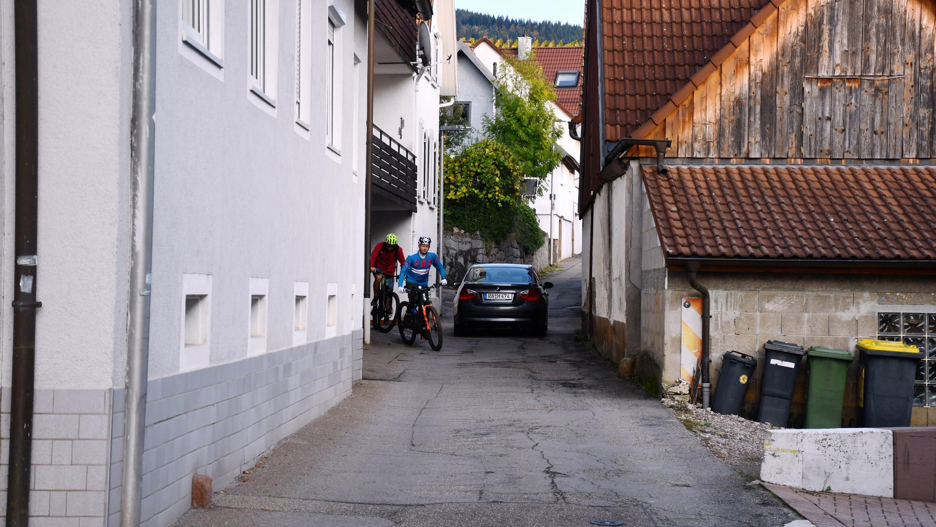 Die Straße Bühler Seite in Altschweier.