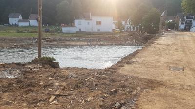 Überschwemmungen in Antweiler im Landkreis Ahrweiler in Rheinland-Pfalz