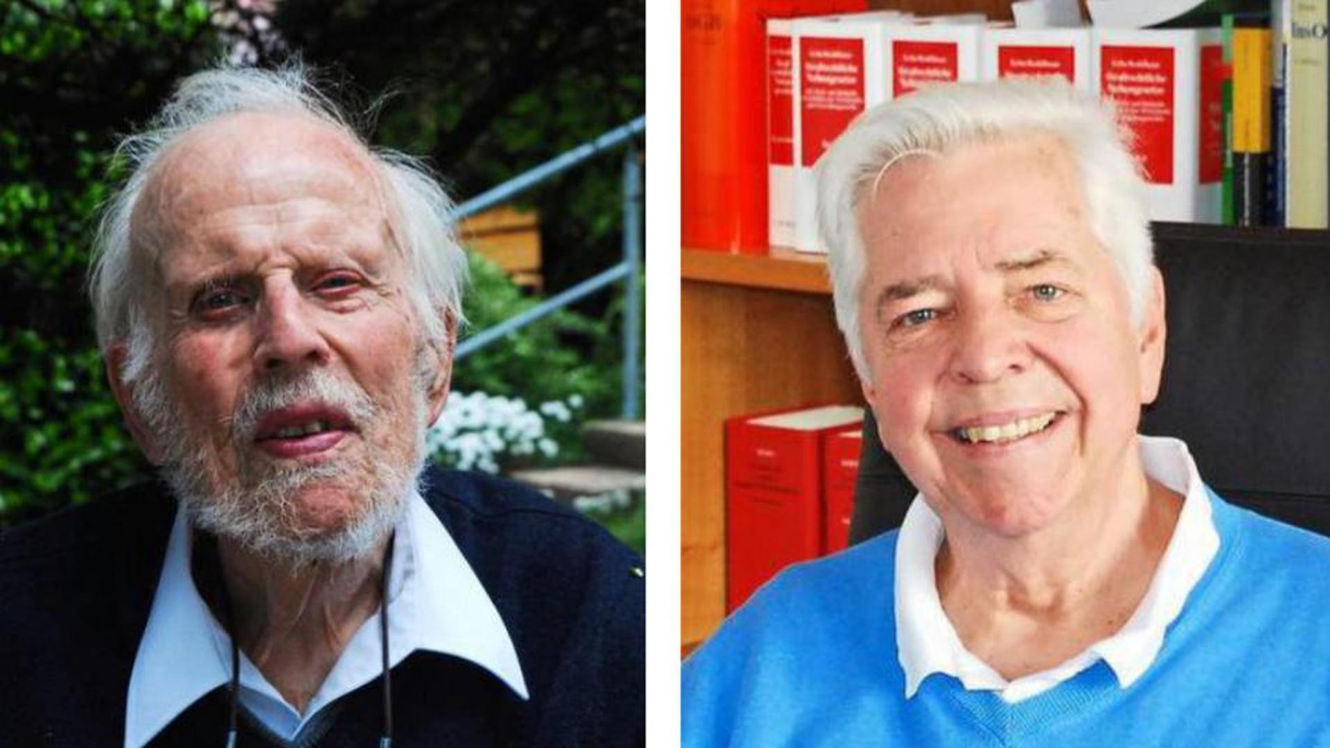 Eine Frage der Verhältnismäßigkeit: Der ehemalige Spiegel-Korrespondent Rolf Lamprecht (links) und der Bühler Ehrenbürger Jan Ernest Rassek sehen die Corona-Pandemie als Ausnahmesituation, die Grundrechtseinschränkungen zulässt