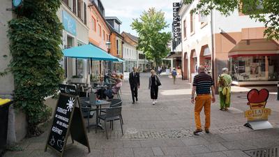 Blick in die Schwanenstraße in Bühl.